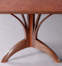 Smith Dining Table - expanding dining table made from walnut and bubinga