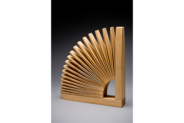 Abanico wood bookend by Seth Rolland custom furniture design