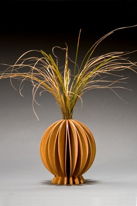 Lotus bud vase made from ash wood by Seth Rolland woodworks