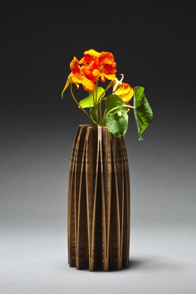 Orchid flower vase made hand made from bamboo by Seth Rolland
