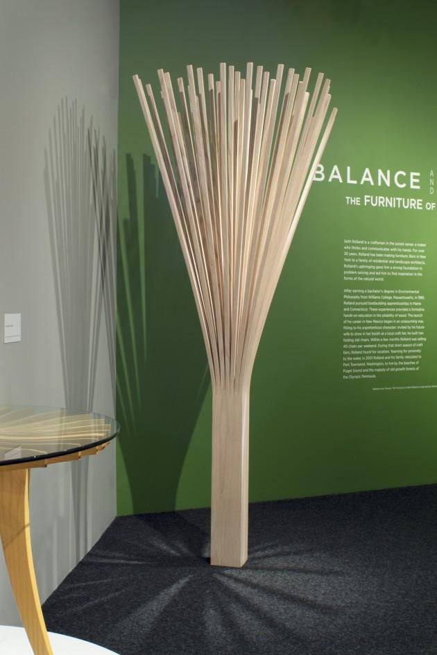ash wood tree form sculpture by Seth Rolland, Port Townsend, Washington