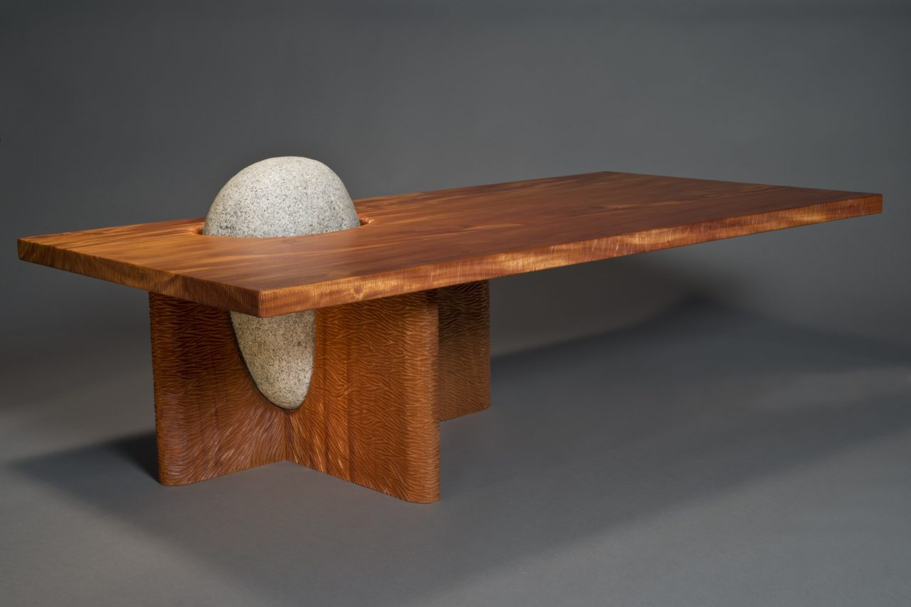 Eddy Coffee Table Solid Wood Amp Stone Table Seth Rolland