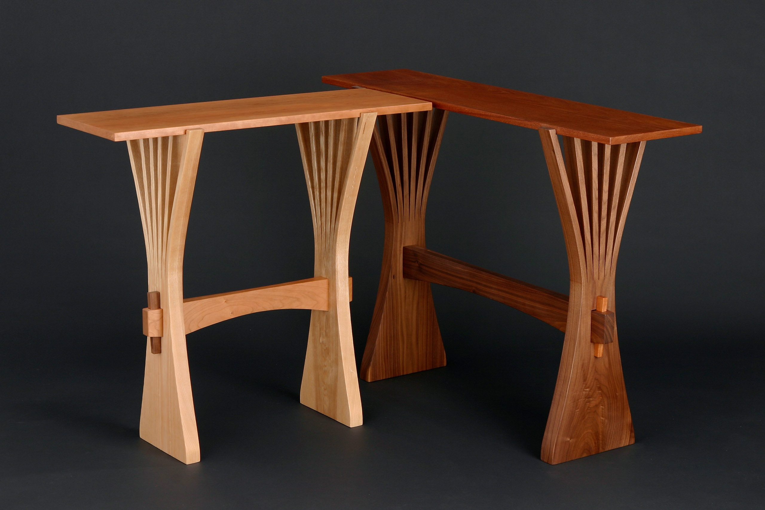 Abanico Hall Table | Custom Hardwood Console Table - Seth Rolland