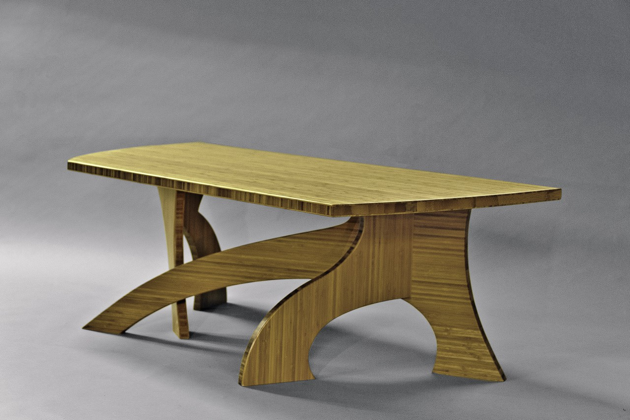 bamboo coffee table made in custom sizes by Seth Rolland furniture design