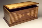 Solid wood blanket chest with cedar bottom by Seth Rolland custom furniture design