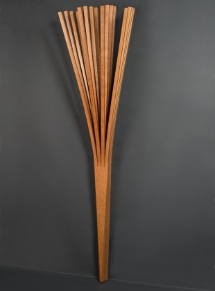Branch coat rack is a wall mounted hall tree made from solid wood steam bent by Seth Rolland custom furniture
