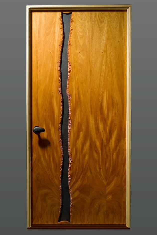 Cascade door carved mahogany wood and slate by Seth Rolland custom furniture design ... & Cascade Door | Fine Wood Furniture - Seth Rolland