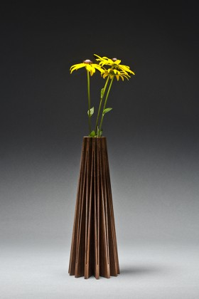 Wood vase or bud vase by Seth Rolland custom furniture design