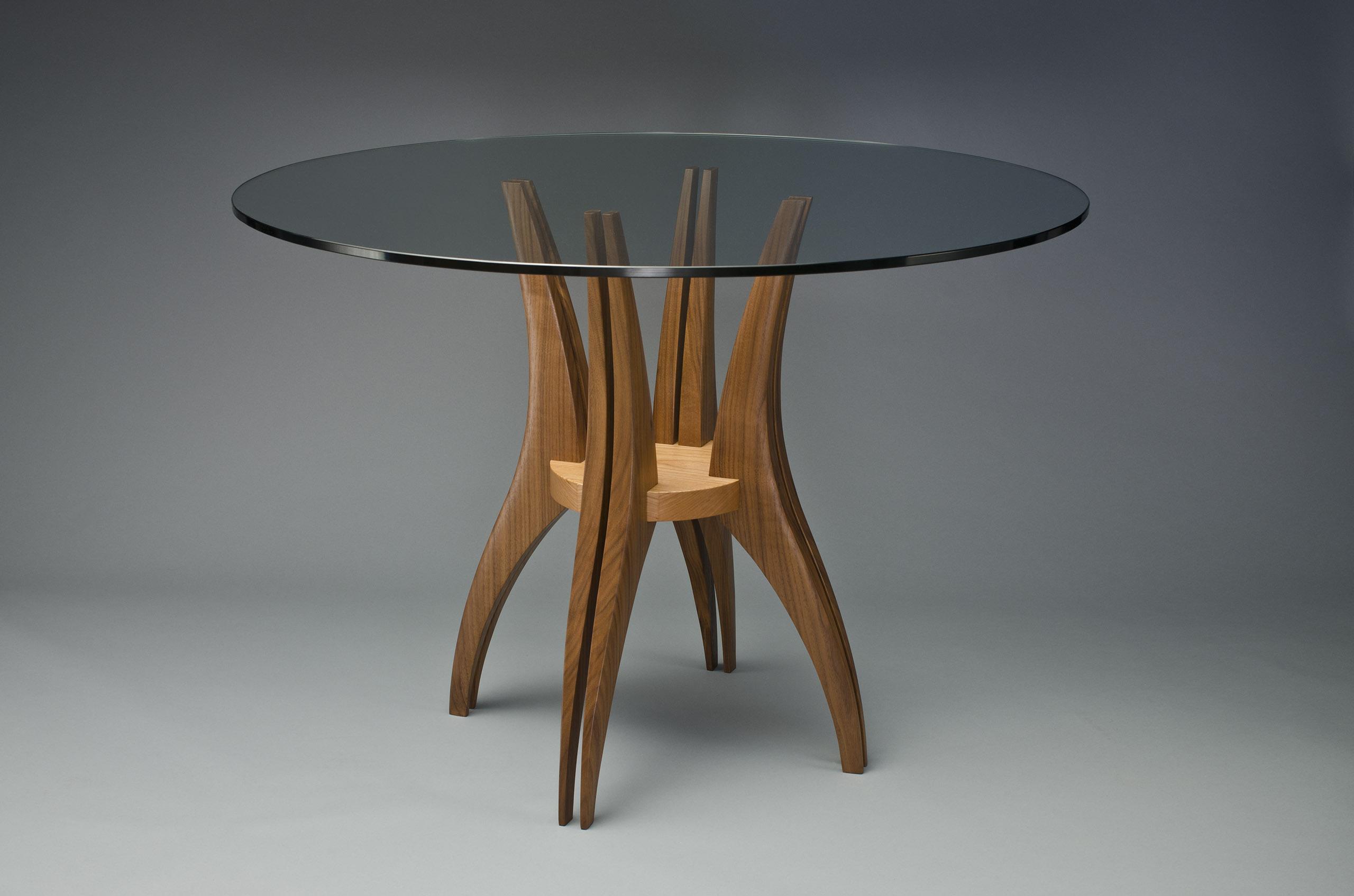 gazelle cafe table hardwood glass dining room table. Black Bedroom Furniture Sets. Home Design Ideas