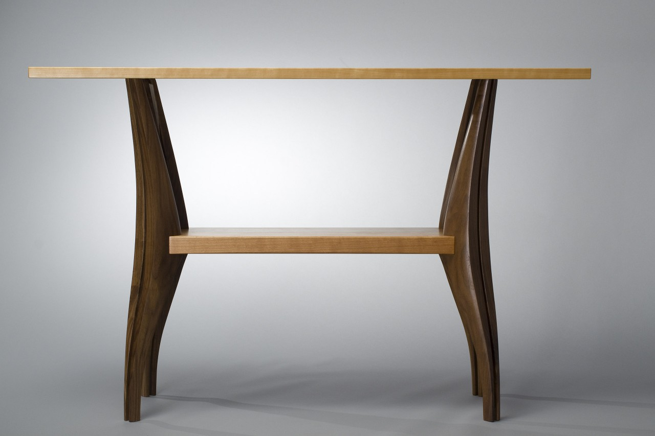 Wooden Hall Tables gazelle hall table | solid walnut and cherry wood table - seth rolland