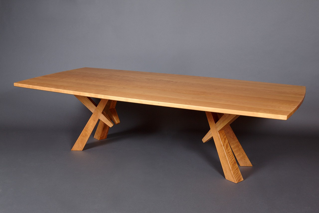 Solid Cherry Wood Dining Table Custom Sized And Hand Crafted By Seth  Rolland Furniture Design. 〉