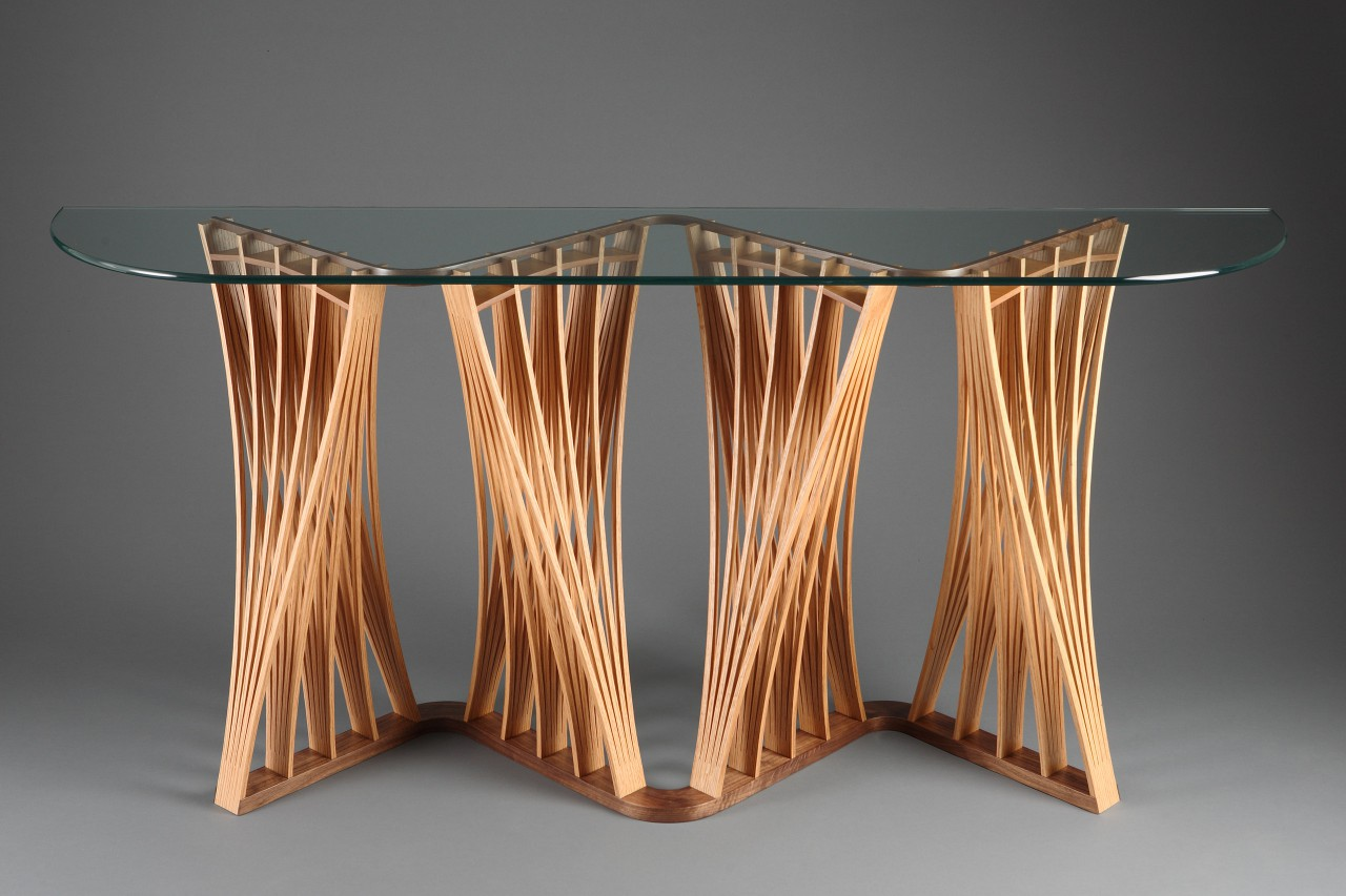 Parabola Buffet Hardwood Console Hall Table Seth Rolland