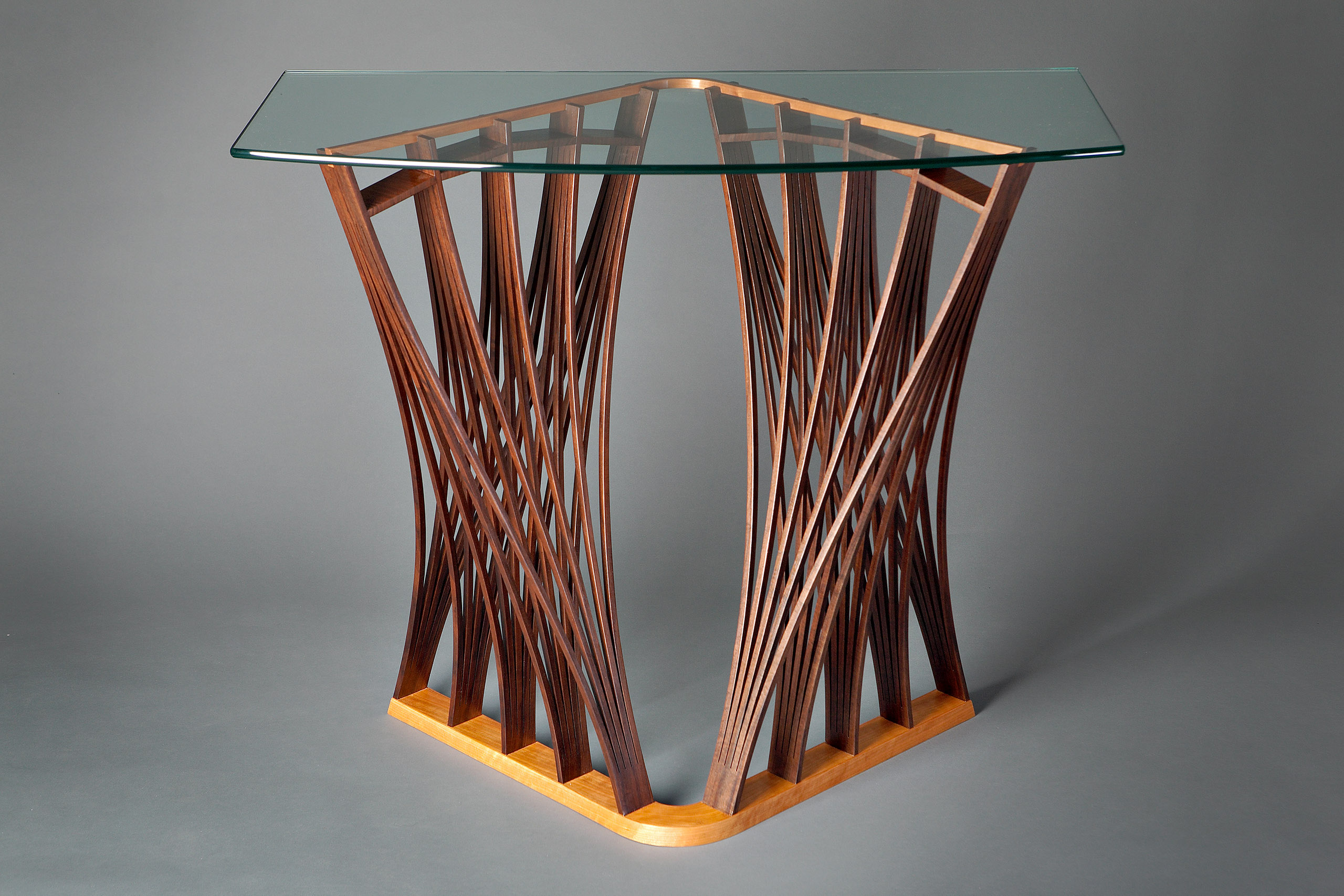 Parabola Display Table Hardwood Hall Amp Console Tables Seth Rolland