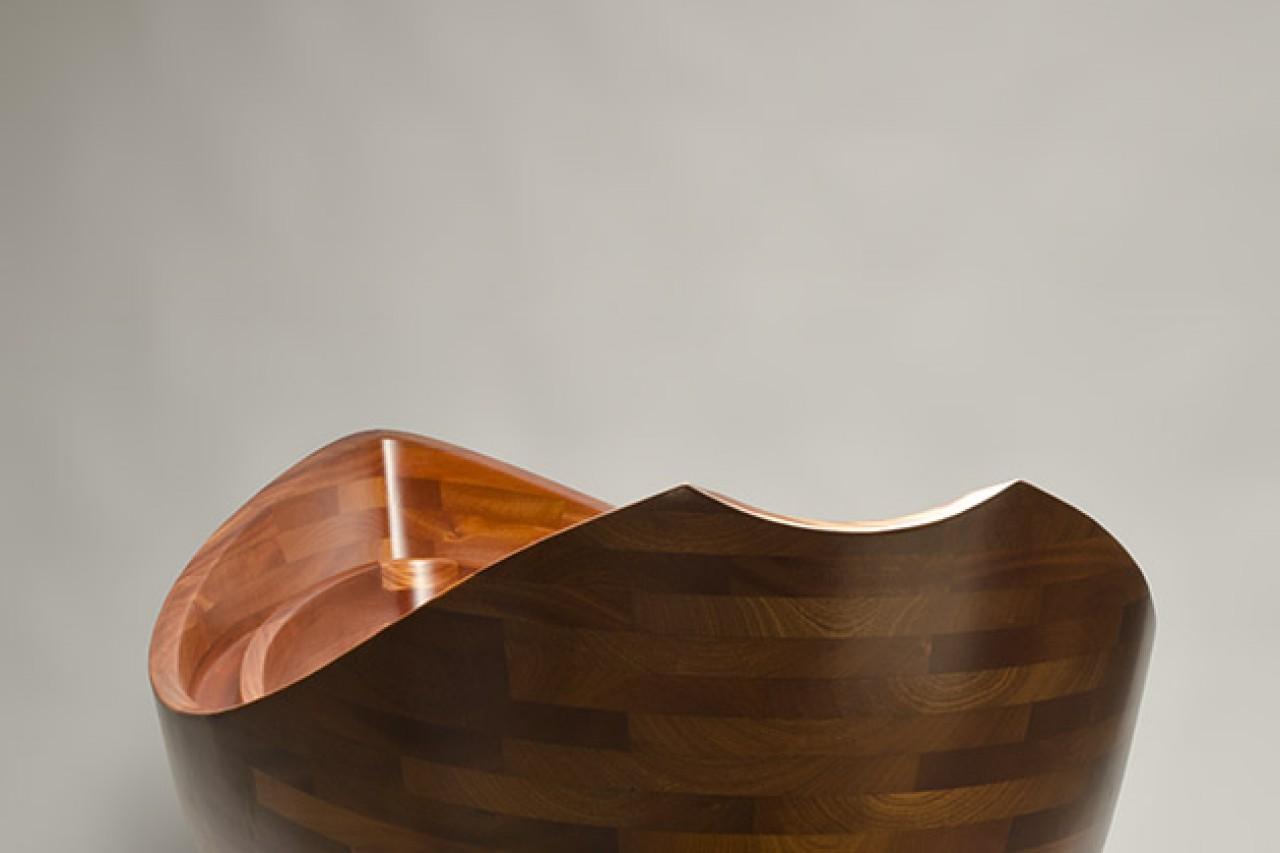 carved wood bath tub boat shaped and waterproof by Seth Rolland custom furniture design