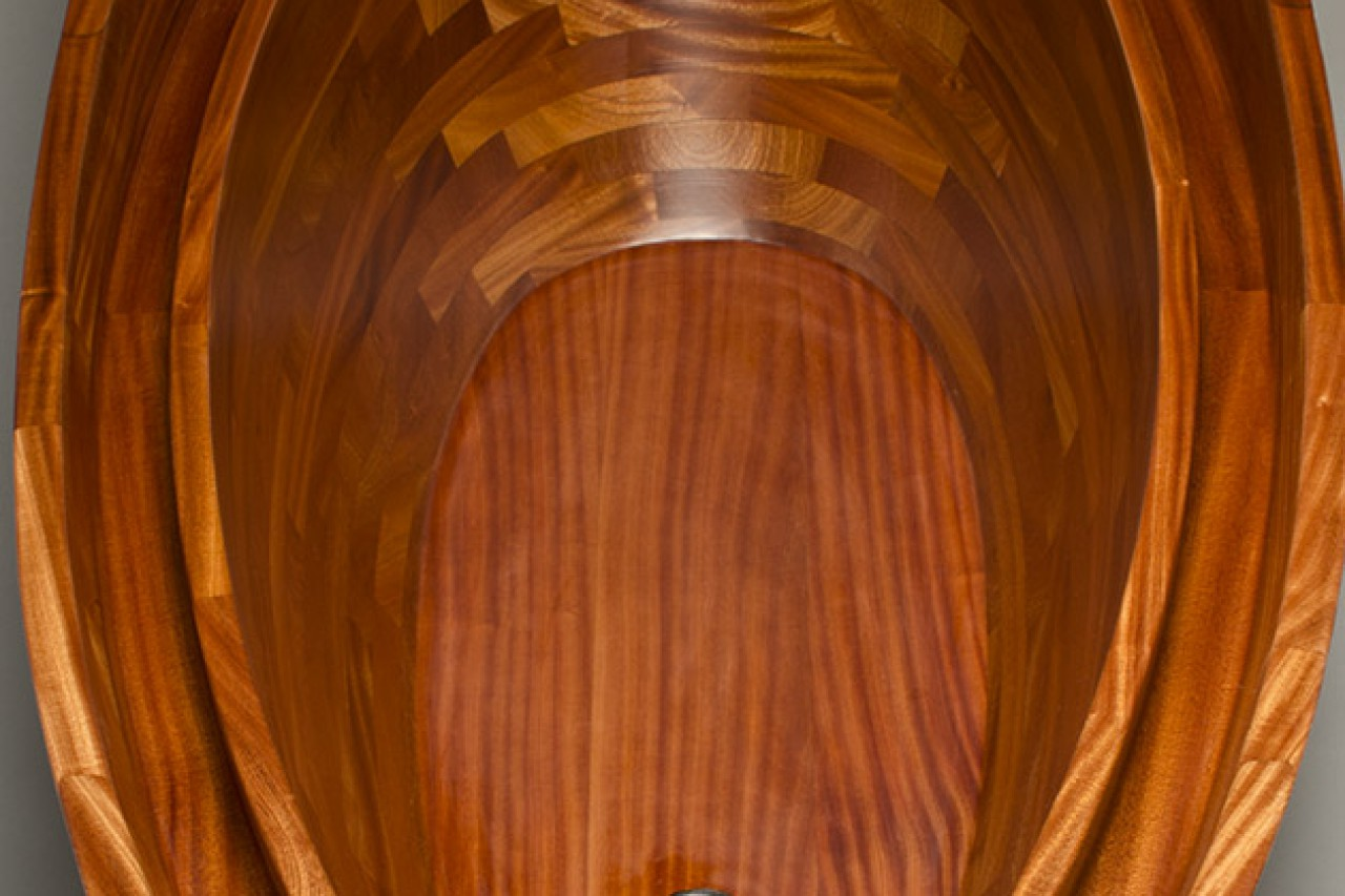 Custom wood bath tub Salish Sea hand crafted from sapele wood by furnituremaker Seth Rolland