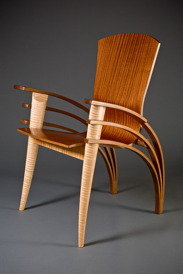 Bent Wood Office Chair