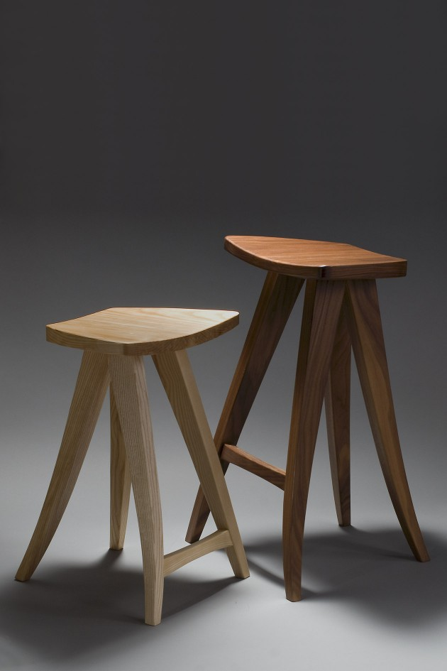 barstool and counter stool by Seth Rolland custom furniture design