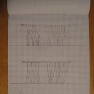 sketches for Drift coffee table