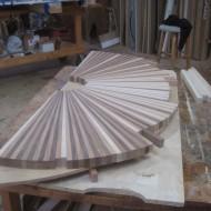 Sunburst hall table top