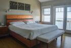 King sized Cayuga bed custom designed and built by Seth Rolland Custom Furniture LLC