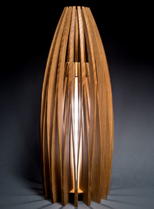 Contemporary Table lamp made from ash wood by Seth Rolland Custom Furniture