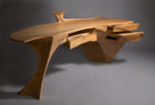 Hand crafted custom wood desk
